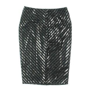 Minkpink Womens Metallic Striped Pencil Skirt