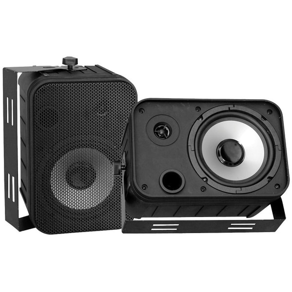 "SPEAKERS 6.5"" BLACK OUTDOOR PYLE PRO; PAIR"