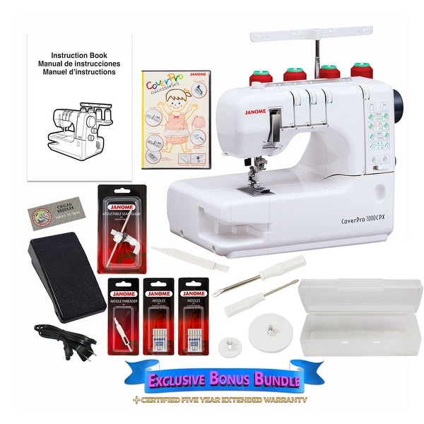 Shop Janome Cover Pro 40CPX Coverstitch Machine W Bonus Bundle Magnificent Coverstitch Sewing Machine
