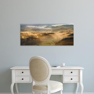 Easy Art Prints Panoramic Images's 'Elevated view of trees on hill in morning, Rudawy Hills, Poland' Canvas Art