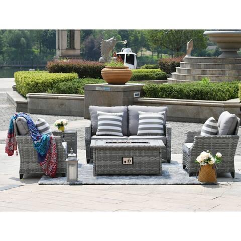 Amora 5-piece Sofa Seating Group with Cushions