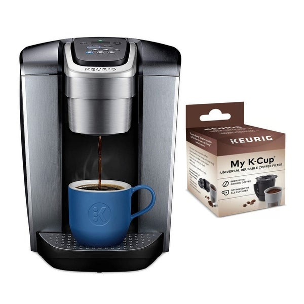 Keurig K-Elite Single Serve K-Cup Pod Coffeemaker with Coffee Filter. Opens flyout.