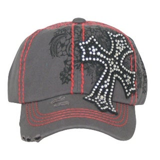Way West Western Hat Girls Kids Cross One Size Gray 1599HJBG