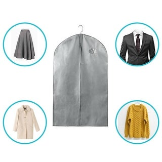 5Pcs Garment Bags Covers for Storage or Travel Suits Luggage Dresses