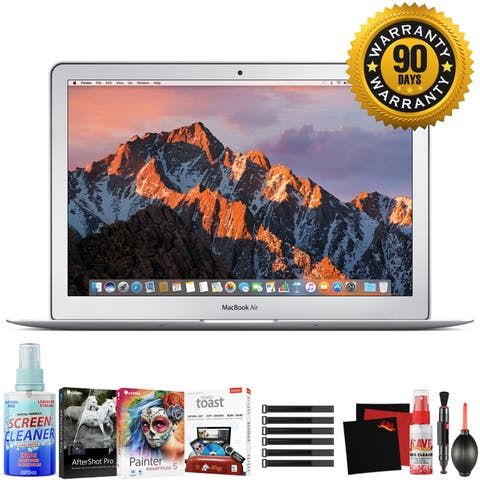 "Apple 13.3"" MacBook Air Mid 2017, Silver - Bundle"