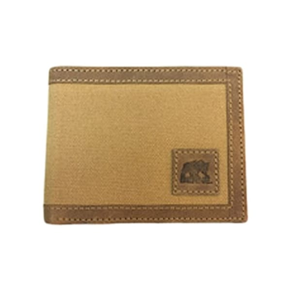 Berne Wallet Mens Leather Stitching Logo Pass Case Brown