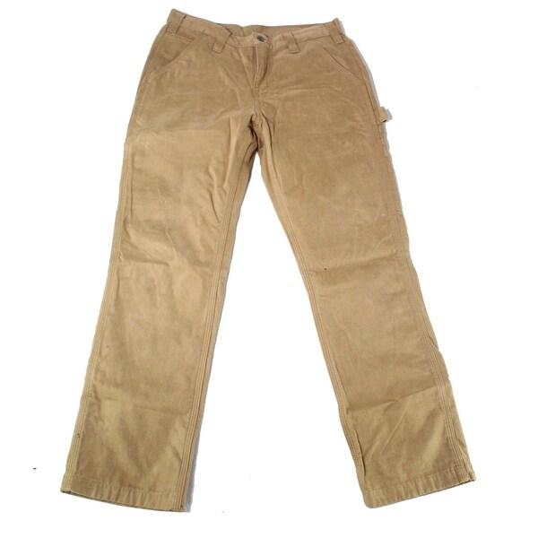 d6f7fc7d Shop Carhartt Beige Mens Size 31x30 Dungaree Flannel-Lined Pants ...