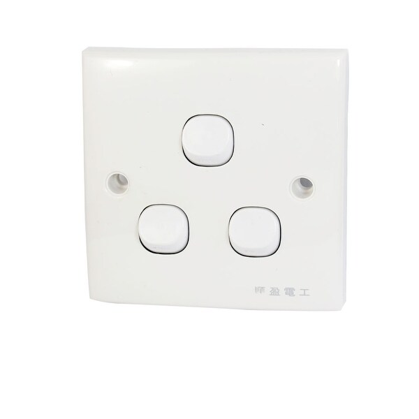 3 Switch Plate Amusing Ac 250V 10A 3 Gang Button Onoff Spst Wall Light Switch Plate Decorating Design