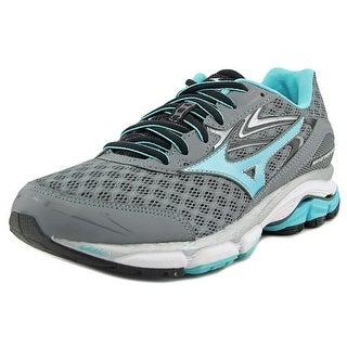 Mizuno Wave Inspire 12 Women Round Toe Synthetic Gray Running Shoe