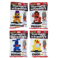 Five Nights at Freddy's 8-Bit Figures: Plush Bonnie, Freddy, Chica, Fredbear - Multi