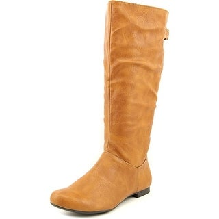 Style & Co Mighty Wide Calf Women Round Toe Synthetic Tan Mid Calf Boot