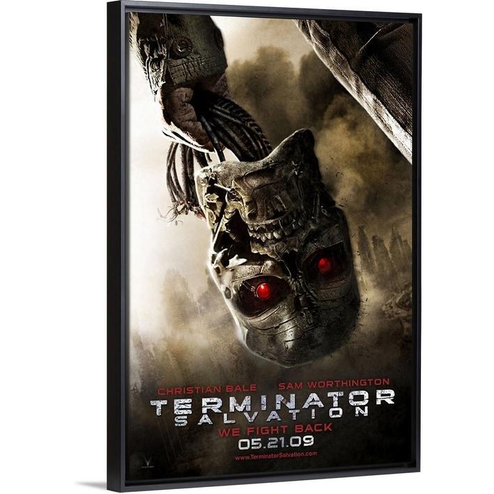 Shop Black Friday Deals On Terminator Salvation 2009 Black Float Frame Canvas Art Overstock 26973912