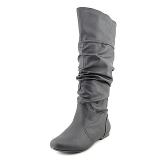 Qupid Neo Round Toe Synthetic Knee High Boot