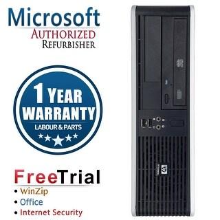 Refurbished HP Compaq DC5800 Small Form Factor Core 2 Duo E7600 3.0G 2G DDR2 80G DVD WIN 10 Pro 64 1 Year Warranty - Silver