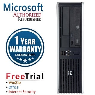 Refurbished HP Compaq DC5800 Small Form Factor Core 2 Duo E8400 3.0G 2G DDR2 80G DVD WIN 7 PRO 64 1 Year Warranty - Silver