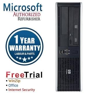Refurbished HP Compaq DC5800 Small Form Factor Core 2 Duo Q6600 2.4G 4G DDR2 500G DVDRW WIN 10 Pro 64 1 Year Warranty - Silver