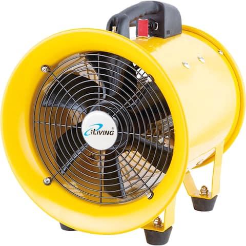 iLIVING 10 inch Utility Blower Exhaust Warehouse Ventilator Fan, 350W, 3450RPM