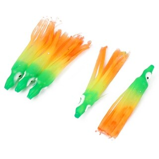 Fishing Silicone Artificial Squid Octopus Skirt Lure Colorful 6cm Long 5pcs