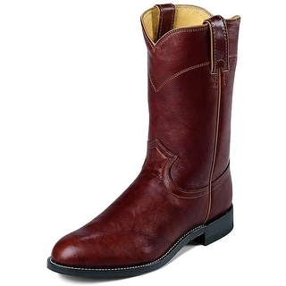 Justin Western Boots Mens Leather Roper Marbled Deerlite Chestnut 3163