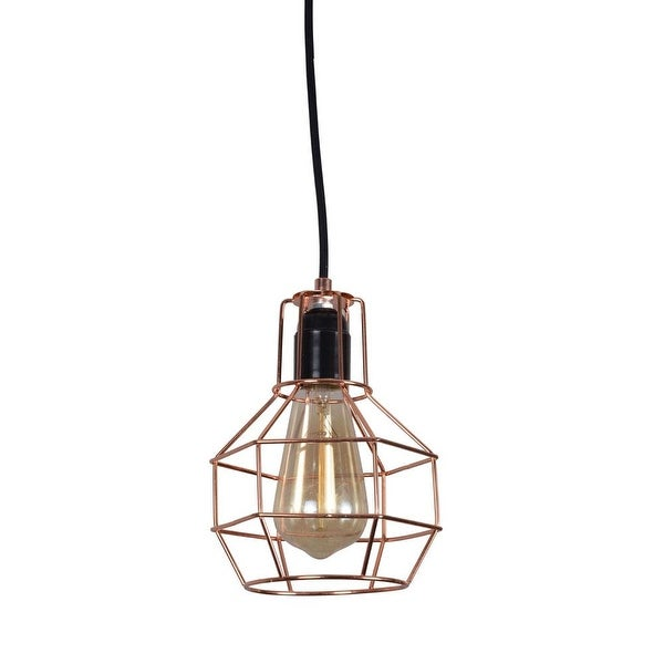 Wire cage kitchen lights fixture rust dining room lighting. Opens flyout.
