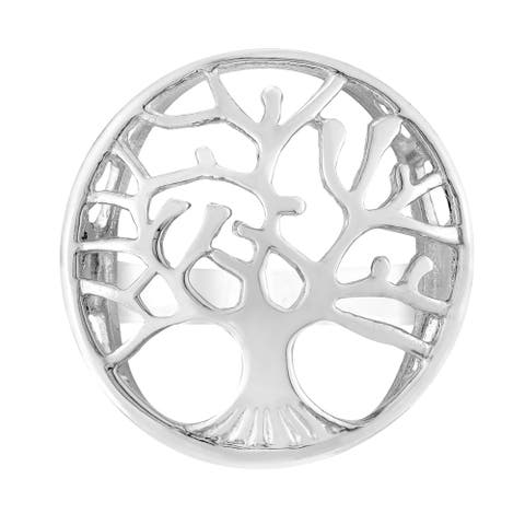 Handmade Rooted Oak Winter Tree Dome Statement Sterling Silver Ring (Thailand)