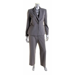 Tahari ASL Womens Petites Howard Heathered 2PC Pant Suit - 12P