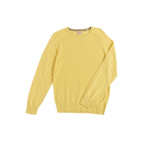 IZOD Men's Waffle-Knit Crew-Neck Sweater (S, Sundress) - Sundress - S