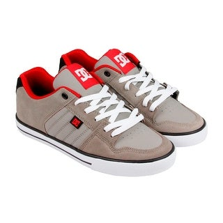 DC Course Mens Tan Textile Lace Up Sneakers Shoes