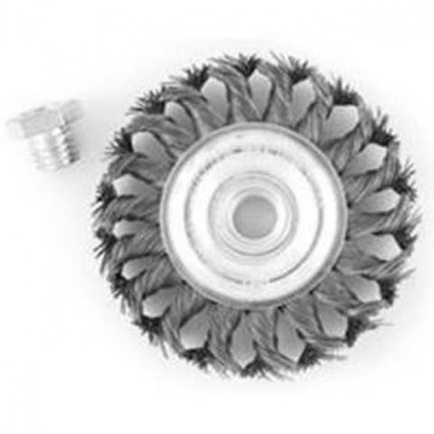 """Mibro 694341OR Knotted Wire Wheel Brush, 5/8"""" - 11"""", 4"""" Diameter"""