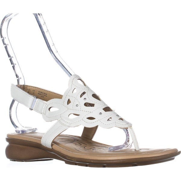naturalizer Jade Thong Round Toe Sandals, White