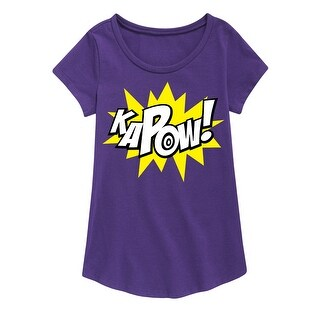 Kapow Bubble - Youth Girl Short Sleeve Curved Hem Tee