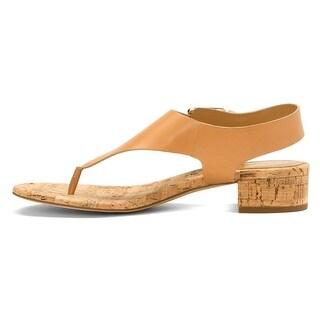 MICHAEL Michael Kors Womens London thong Rubber Open Toe Casual T-Strap Sandals