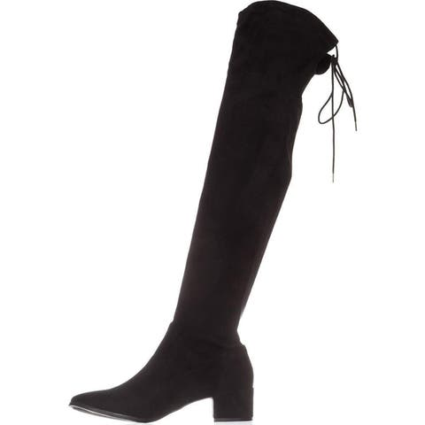 1755cc2084b0 Chinese Laundry Womens Mystical Suede Almond Toe Knee High Fashion Boots