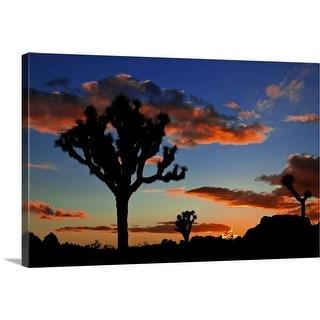 """Joshua Tree Sunset"" Canvas Wall Art"