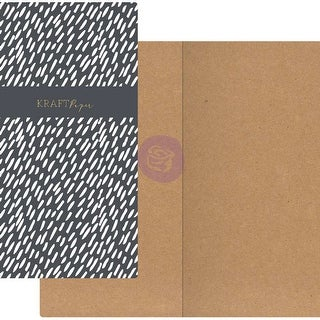 Prima Traveler's Journal Notebook Refill 32 Sheets-Dashes W/ - dashes w/kraft paper