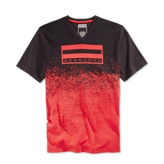 Sean John NEW Black Red Mens Size 2XL V-Neck Logo Graphic Tee T-Shirt|https://ak1.ostkcdn.com/images/products/is/images/direct/95090e828c6ed886b0b2a7b76c45f1f0cf871602/Sean-John-NEW-Black-Red-Mens-Size-2XL-V-Neck-Logo-Graphic-Tee-T-Shirt.jpg?_ostk_perf_=percv&impolicy=medium