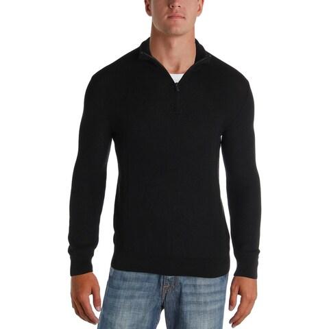 Polo Ralph Lauren Mens 1/2 Zip Sweater Textured Mock Neck - S