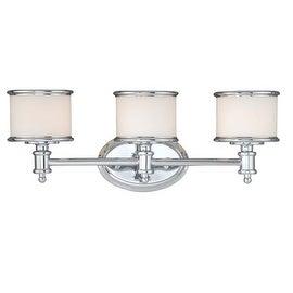 Vaxcel Lighting CR-VLU003 Carlisle 3 Light Bathroom Vanity Light - 22 Inches Wide
