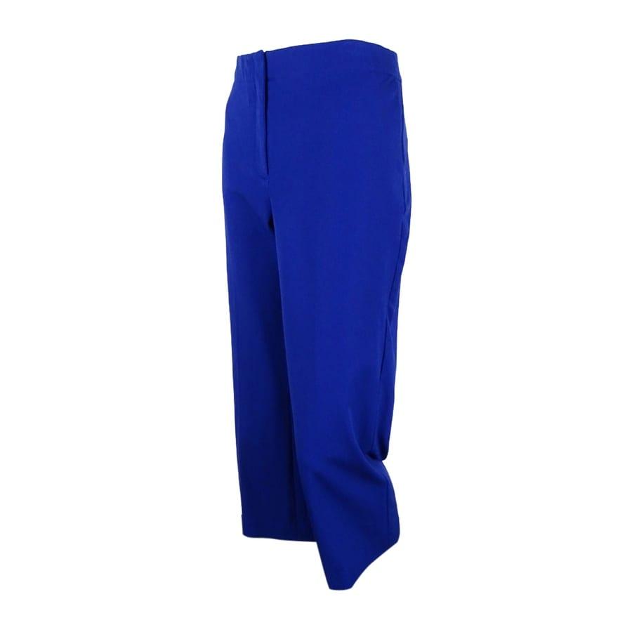 Alfani Womens Tummy Control Capri Pants 4, Blue Violet