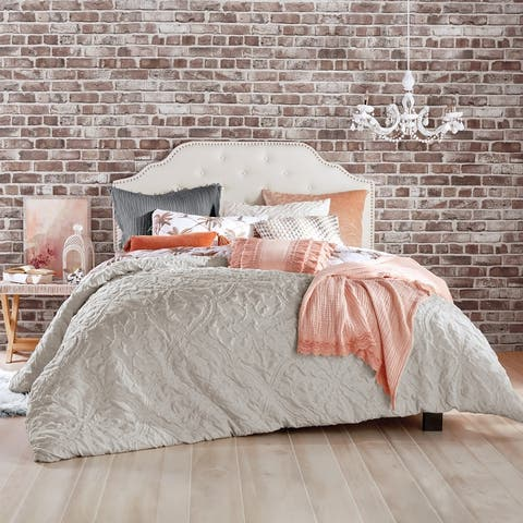 Porch & Den Roan Microsculpt 3-piece Comforter Set