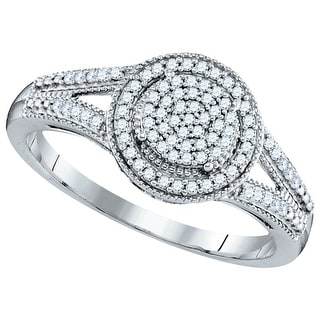 1/5Ctw Diamond Micro-Pave Bridal Ring - White