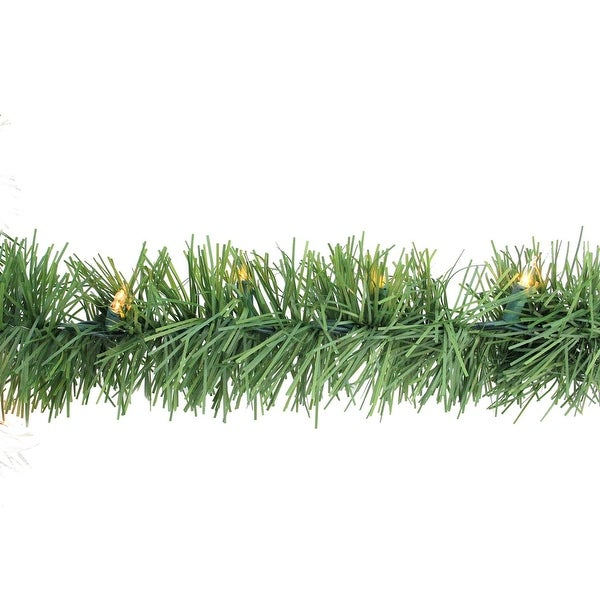 "12' x 3"" Pre-Lit Green Pine Indoor/Outdoor Artificial Christmas Garland - Clear Lights"