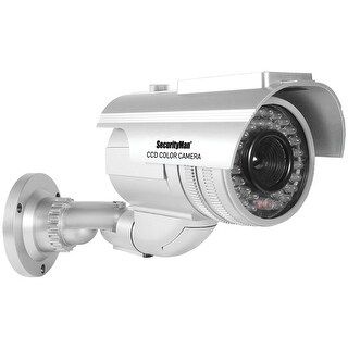 Securityman Robust Solar-powered Indoor And Outdoor Dummy Bullet Camera With Led