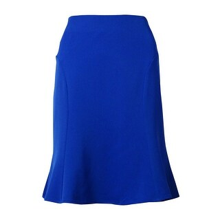 Calvin Klein Women's Seamed Skirt - Electric Blue