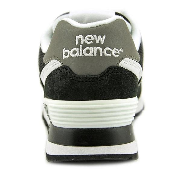chaussures de séparation 8d98d 60f5d Shop New Balance W574 Women Round Toe Suede Black Sneakers ...