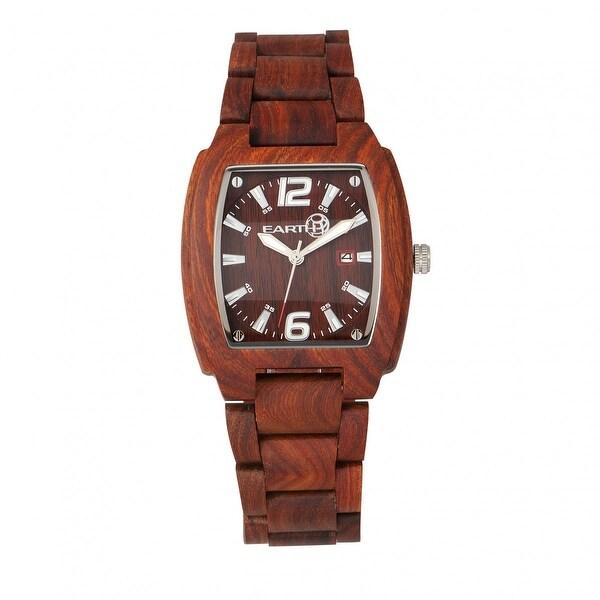 Shop Earth Wood Sagano Unisex Quartz Watch, Wood Band -4242