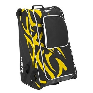 "Grit Inc HTFX Hockey Tower 33"" Wheeled Equipment Bag Yellow HTFX033-BO (Boston) - 33''h x 20''w x 17''d"