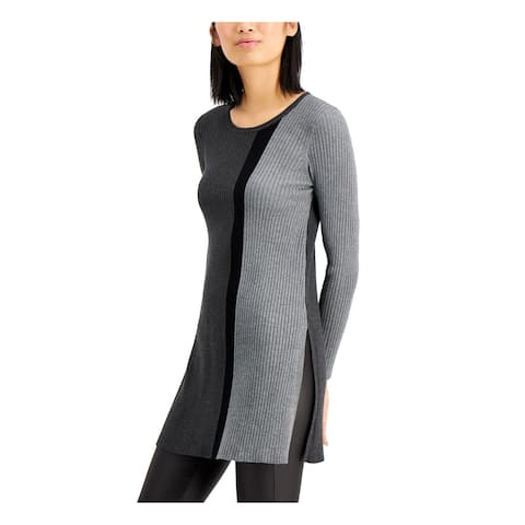 ALFANI Gray Long Sleeve Tunic Sweater XL