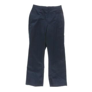 Alfred Dunner Womens Petites Bon Voyage Dress Pants Elastic Waist Solid - 8P
