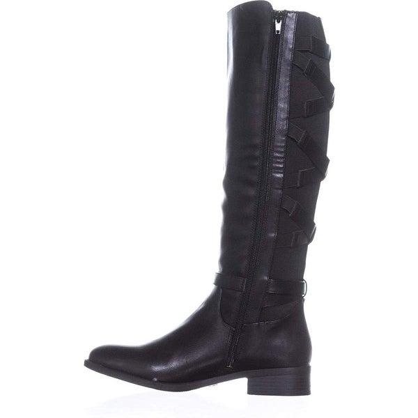 5284e4a995d7 Thalia Sodi Womens Veronika Wide Calf Riding Boots Closed Toe Knee High  Fashi.